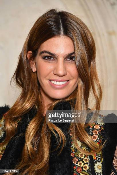 Bianca Brandolini d'Adda attends the Christian Dior show as part of the Paris Fashion Week Womenswear Spring/Summer 2018 on September 26 2017 in...