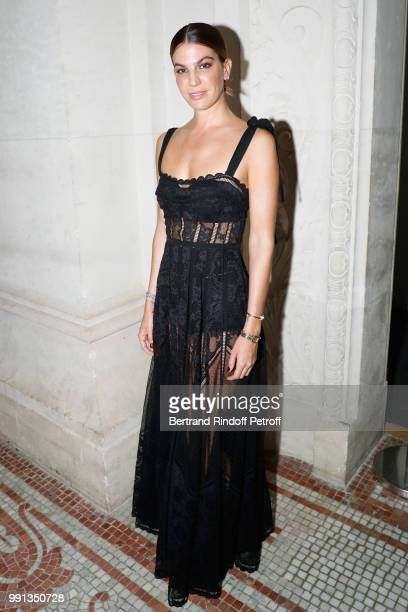 Bianca Brandolini d'Adda attends the Elie Saab Haute Couture Fall Winter 2018/2019 show as part of Paris Fashion Week on July 4 2018 in Paris France
