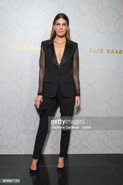 Bianca Brandolini d'Adda attends the Elie Saab Haute Couture Spring Summer 2018 show as part of Paris Fashion Week January 24 2018 in Paris France