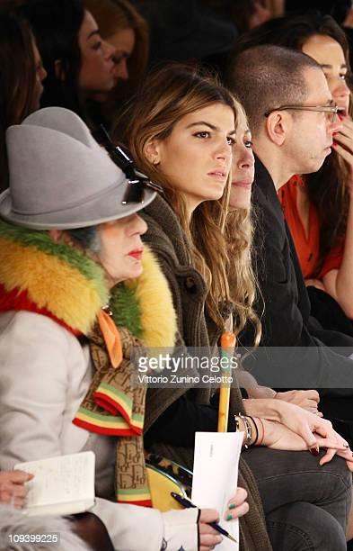 Bianca Brandolini D'Adda attends the Fendi Fashion Show as part of Milan Fashion Week Womenswear Autumn/Winter 2011on February 24 2011 in Milan Italy