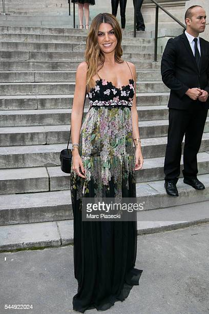 Bianca Brandolini d'Adda attends the Giambattista Valli Haute Couture Fall/Winter 20162017 show as part of Paris Fashion Week on July 4 2016 in Paris...