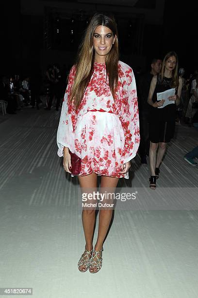 Bianca Brandolini d'Adda attends the Giambattista Valli show as part of Paris Fashion Week Haute Couture Fall/Winter 20142015 on July 7 2014 in Paris...