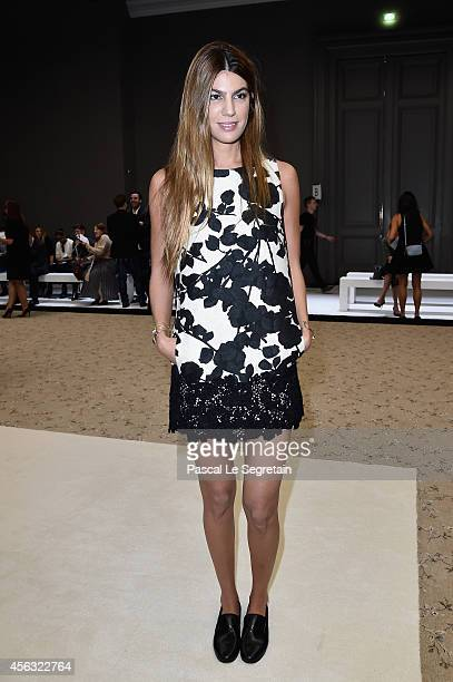 Bianca Brandolini d'Adda attends the Giambattista Valli show as part of the Paris Fashion Week Womenswear Spring/Summer 2015 on September 29 2014 in...