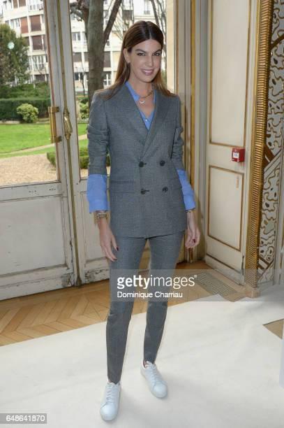 Bianca Brandolini d'Adda attends the Giambattista Valli show as part of the Paris Fashion Week Womenswear Fall/Winter 2017/2018 on March 6 2017 in...