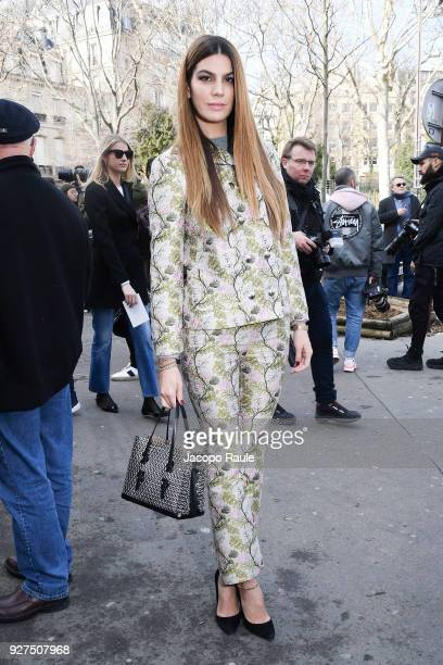 Bianca Brandolini d'Adda attends the Giambattista Valli show as part of the Paris Fashion Week Womenswear Fall/Winter 2018/2019 on March 5 2018 in...