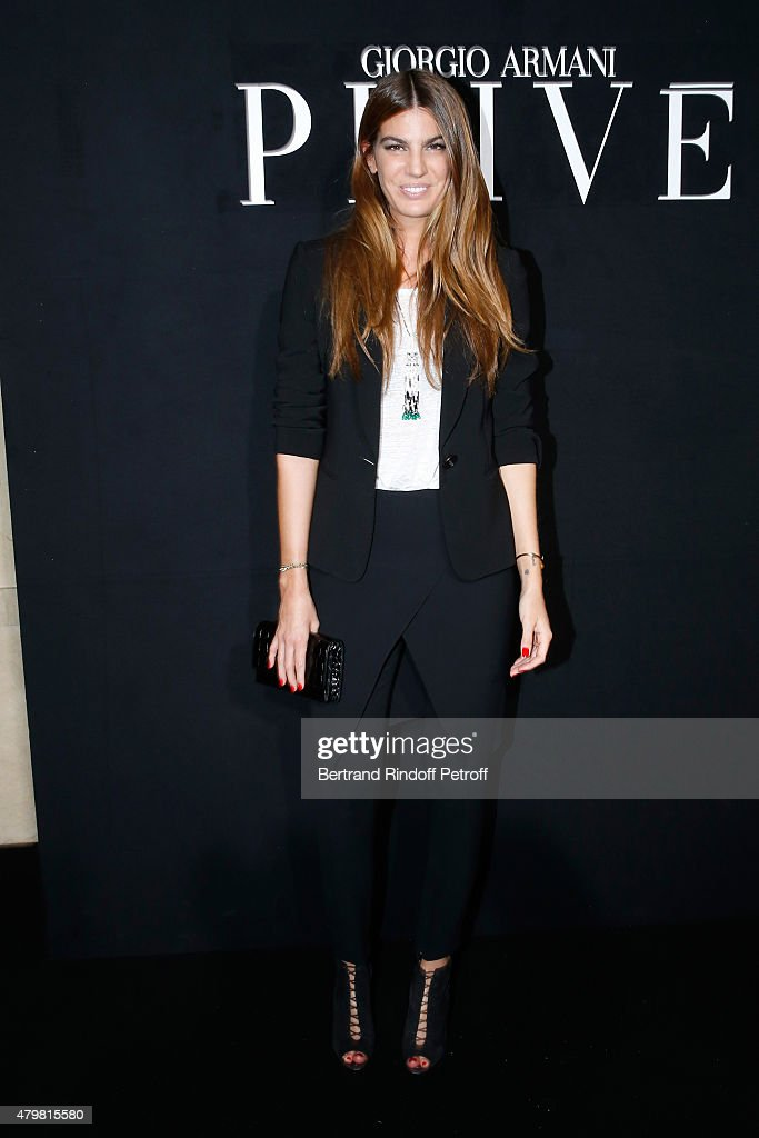Bianca Brandolini d'Adda attends the Giorgio Armani Prive show as part of Paris Fashion Week Haute-Couture Fall/Winter 2015/2016. Held at Palais de Chaillot on July 7, 2015 in Paris, France.