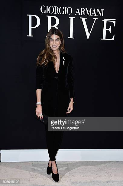 Bianca Brandolini D'Adda attends the Giorgio Armani Prive Spring Summer 2016 show as part of Paris Fashion Week on January 26 2016 in Paris France