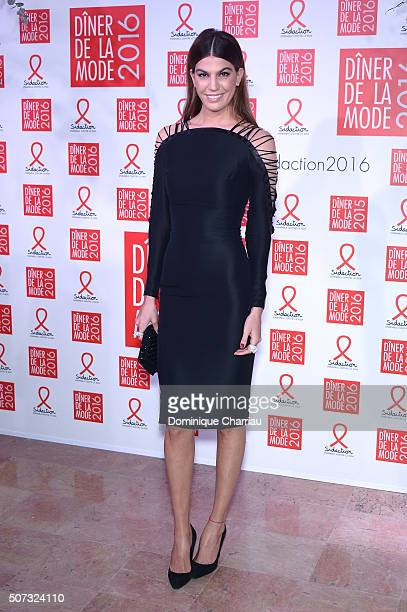 Bianca Brandolini d'Adda attends the Sidaction Gala Dinner 2016 as part of Paris Fashion Week on January 28 2016 in Paris France