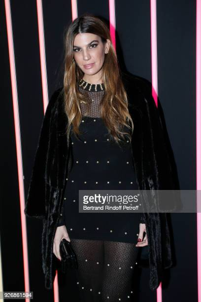 Bianca Brandolini d'Adda attends the Sonia Rykiel show as part of the Paris Fashion Week Womenswear Fall/Winter 2018/2019 on March 3 2018 in Paris...