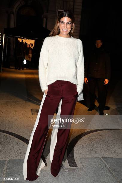 Bianca Brandolini d'Adda attends the Valentino Haute Couture Spring Summer 2018 show as part of Paris Fashion Week on January 24 2018 in Paris France