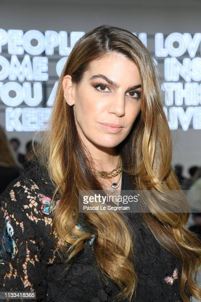Bianca Brandolini d'Adda attends the Valentino show as part of the Paris Fashion Week Womenswear Fall/Winter 2019/2020 on March 03 2019 in Paris...