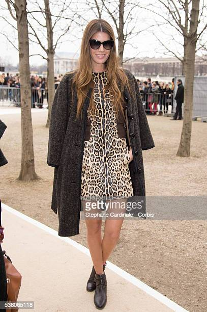 Bianca Brandolini d'Adda attends the Valentino show as part of the Paris Fashion Week Womenswear Fall/Winter 2015/2016 on March 10 2015 in Paris...