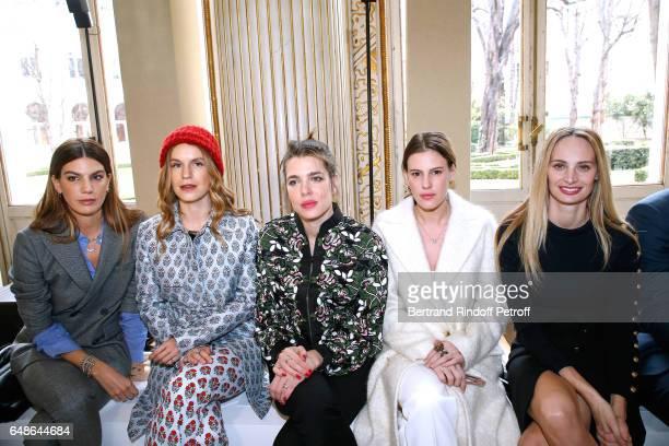 Bianca Brandolini d'Adda Eugenie Niarchos Charlotte Casiraghi Juliette Dol Maillot and Lauren Santo Domingo attend the Giambattista Valli show as...