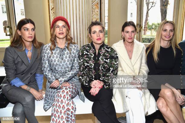Bianca Brandolini d'Adda Eugenie Niarchos Charlotte Casiraghi Juliette Dol and Lauren Santo Domingo attend the Giambattista Valli show as part of the...