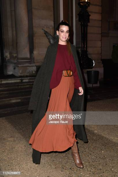 Bianca Brandolini D'Adda is seen arriving at Valentino fashion show during Paris Fashion Week Haute Couture Spring Summer 2020 on January 23 2019 in...