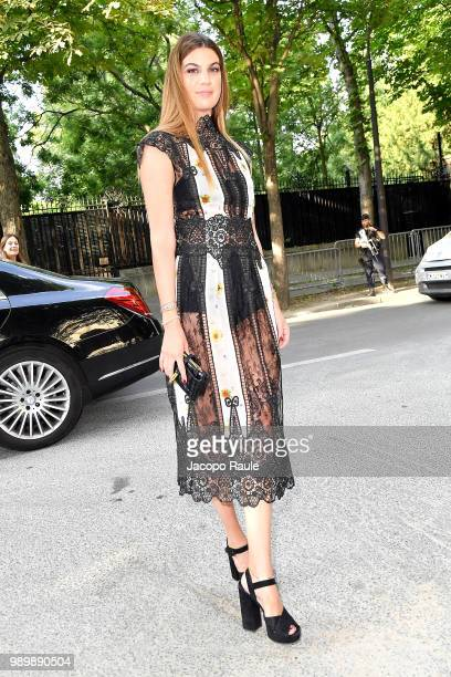 Bianca Brandolini dÕAdda is seen at the Giambattista Valli Haute Couture Fall Winter 2018/2019 Show on July 2 2018 in Paris France
