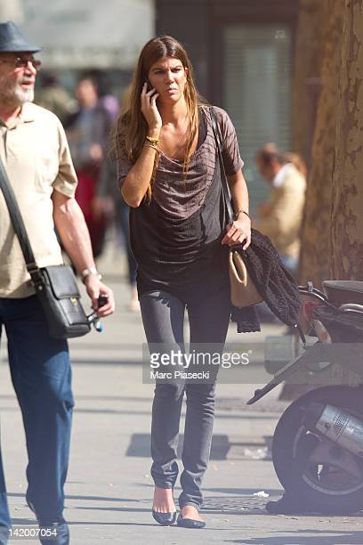 Bianca Brandolini D'Adda is sighted in the 'SaintGermaindesPres' area on March 28 2012 in Paris France