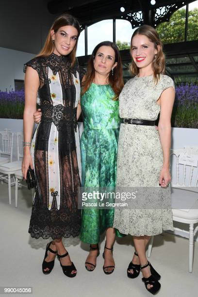 Bianca Brandolini d'Adda Livia Firth and Eugenie Niarchos attend the Giambattista Valli Couture Haute Couture Fall/Winter 20182019 show as part of...