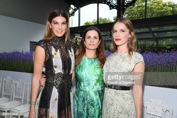 Bianca Brandolini d'Adda Livia Firth and Eugenie Niarchos attend the Giambattista Valli Couture Haute Couture Fall/Winter 20182019 show as part of...