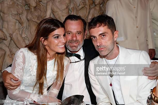 Bianca Brandolini d'Adda Louis Benech and Gianbatista Valli attend 'Liaisons Au Louvre III' Charity Gala Dinner Hosted by American International...
