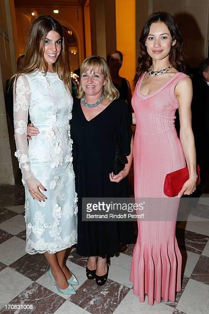 Bianca Brandolini d'Adda, Miss Michel Burke and Olga Kurilenko attend 'Liaisons Au Louvre III' Charity Gala Dinner Hosted by American International...