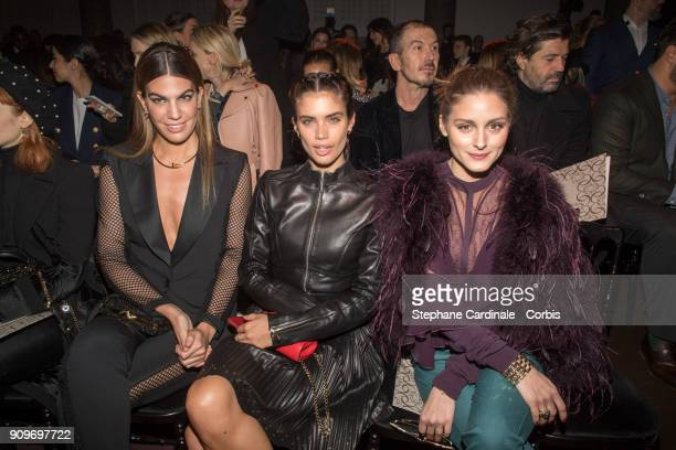 Bianca Brandolini d'Adda Sara Sampaio and Olivia Palermo attend the Elie Saab Haute Couture Spring Summer 2018 show as part of Paris Fashion Week...