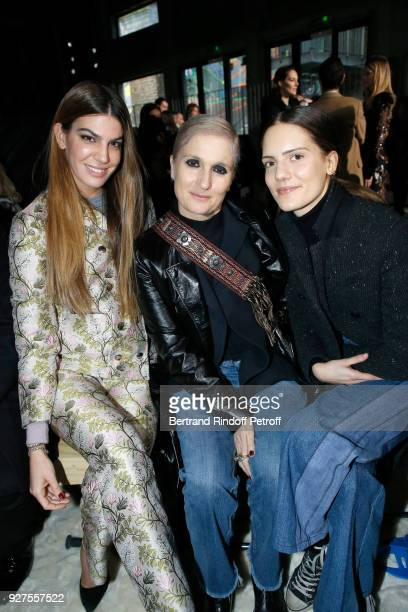 Bianca Brandolini d'Adda Stylist Maria Grazia Chiuri and her daughter Rachele Regini attend the Giambattista Valli show as part of the Paris Fashion...