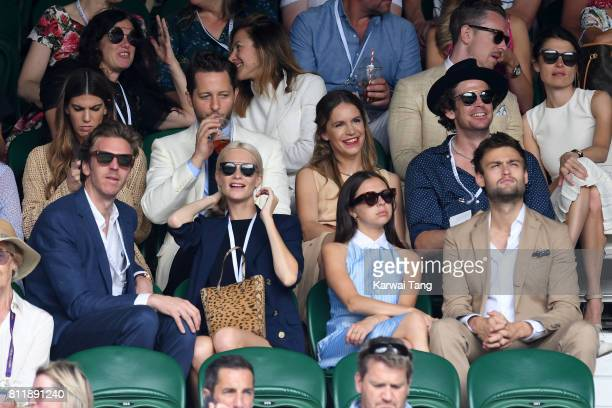 Bianca Brandolini d'Adda writer Derek Blasberg and Coco Brandolini d'Adda James Cook Poppy Delevingne actors Bel Powley and Douglas Booth attend day...