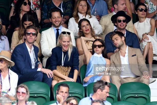 Bianca Brandolini d'Adda writer Derek Blasberg and Coco Brandolini d'Adda James Cook Poppy Delevingne actors Bel Powley and Douglas Booth attend day...