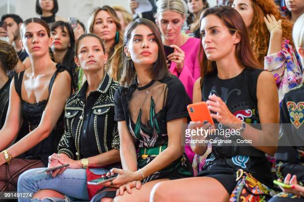 Bianca Brandolini Helena Bordon Camila Coelho and Gala Gonzalez attend the Elie Saab Haute Couture Fall/Winter 20182019 show as part of Haute Couture...