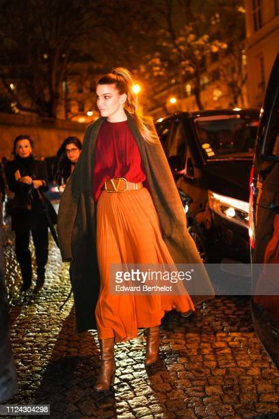 Bianca Brandolini is seen outside Valentino during Paris Fashion Week Haute Couture Spring Summer 2020 on January 23 2019 in Paris France