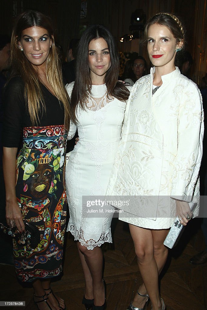 Bianca Brandolini, Julia Restoin Roitfeld and Eugenie Niarchos attend the Founder And CEO Alessandro Savelli And Contemporary Style Icon Julia Restoin Roitfeld Launch SAVELLI The World's First Luxury Smart Phone Especially For Women During Haute Couture Week at Musee Jacquemart-Andre on July 3, 2013 in Paris, France.