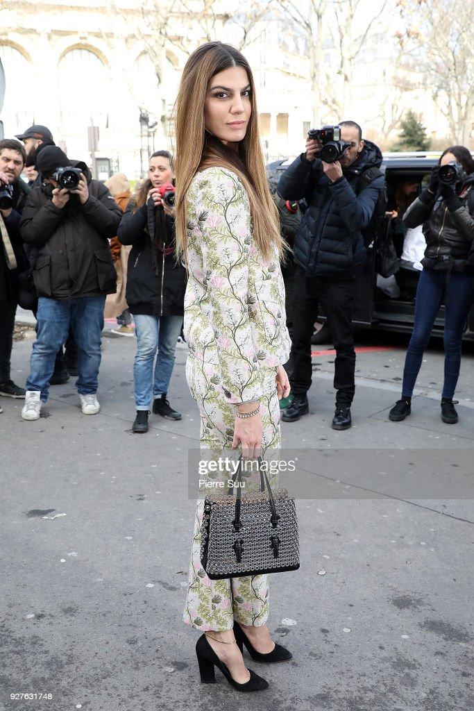 Bianca Brandolino D'adda attends the Giambattista Valli show as part of the Paris Fashion Week Womenswear Fall/Winter 2018/2019 on March 5, 2018 in Paris, France.
