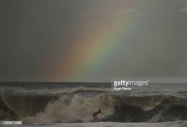Bianca Buitendag of Team South Africa surfs during the women's Gold Medal match on day four of the Tokyo 2020 Olympic Games at Tsurigasaki Surfing...