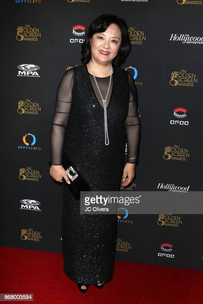 Bianca Chen attends the 2nd Annual Golden Screen Awards hosted by US China Film and TV Industry Expo at The Novo by Microsoft on October 29 2017 in...