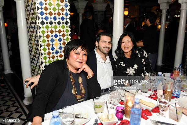 Bianca Chen Sean Yashar and Christine Y Kim attend LAXART UNGALA Presented By Phillips on May 19 2014 in Los Angeles California