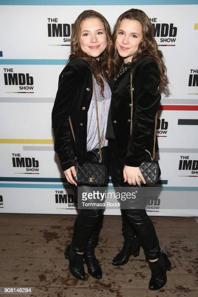 Bianca D'Ambrosio and Chiara D'Ambrosio attend The IMDb Show Launch Party at The Sundance Film Festival on January 20 2018 in Park City Utah on...
