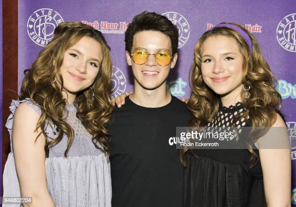 Bianca D'Ambrosio Hayden Summerall and Chiara D'Ambrosio attend Hayden Summerall's 13th Birthday Bash at Bardot on April 15 2018 in Hollywood...