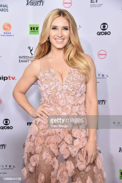 Bianca de la Garza attends the 46th Annual International Emmy Awards Arrivals at New York Hilton on November 19 2018 in New York City