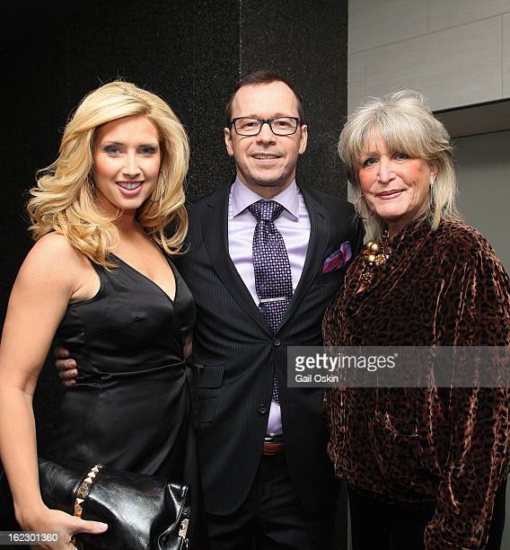 Bianca de la Garza Donnie Wahlberg and Susan Wornick attend TNT's Boston's Finest premiere screening at The Revere Hotel on February 20 2013 in...