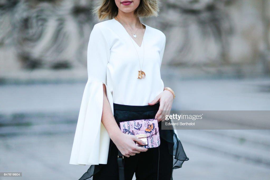 Street Style : Day Four- Paris Fashion Week Womenswear Fall/Winter 2017/2018
