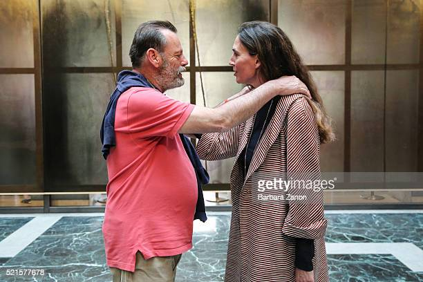 Bianca di Savoia and Louis Benech attend the 'Sigmar Polke' Exhibition opening at Palazzo Grassi on April 16, 2016 in Venice, Italy. The exhibition...