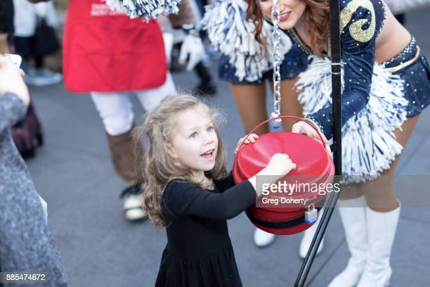 Bianca drops a donation in the Red Kettelat The Salvation Army Celebrity Kettle Kickoff Red Kettle Hollywood at the Original Farmers Market on...