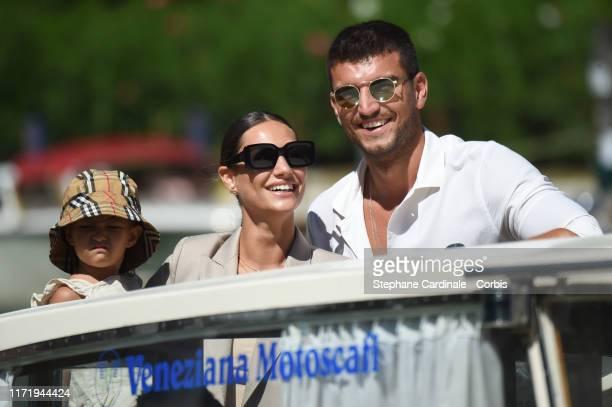 Bianca Fantini Marco Fantini and Beatrice Valli are seen arriving at the 76th Venice Film Festival on September 03 2019 in Venice Italy