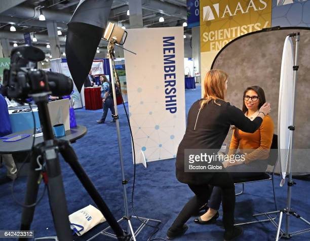 Bianca Flores of Vanderbilt University gets her photograph taken to be used on her LinkedIn page by photographer Lauren Owens of Atlantic Photo at...