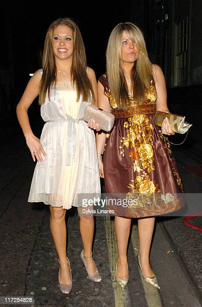 Bianca Gascoigne and guest during The Marine Connection Charity Evening April 25 2007 at Chinawhite Club in London Great Britain