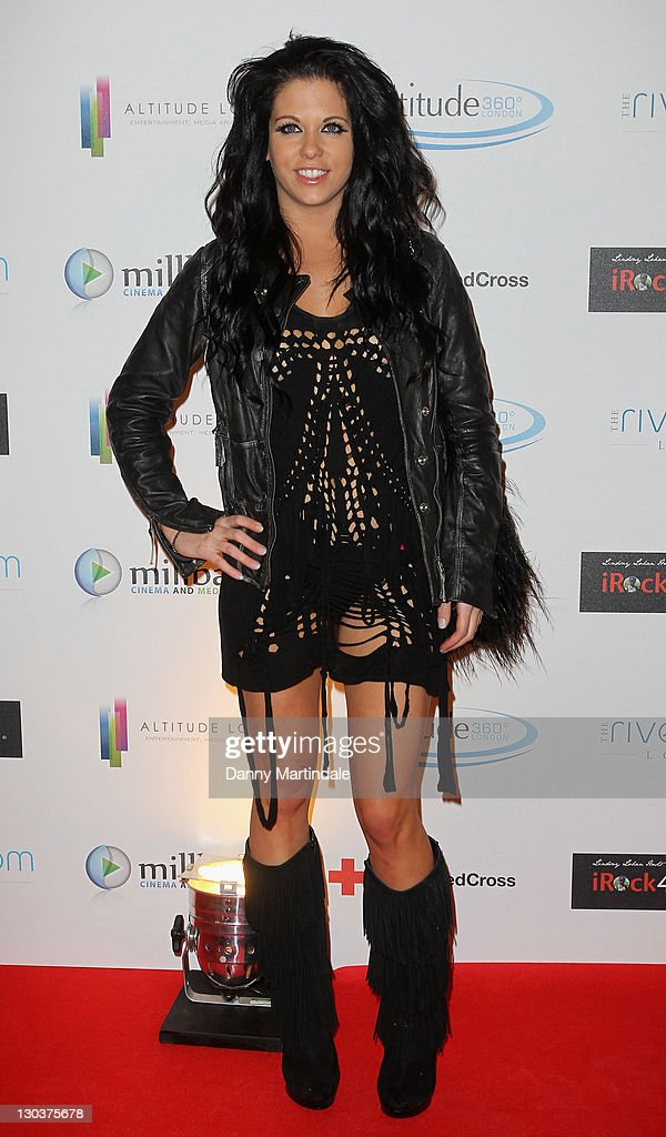 Bianca Gascoigne attends a screening party for The Brit Awards 2010 at Altitude on February 16, 2010 in London, England.