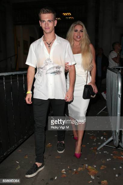 Bianca Gascoigne attends Kem Cetinay BoohooMAN collection launch party at Opal Bar on August 24 2017 in London England