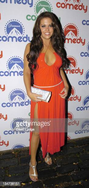 Bianca Gascoigne during Paramount Comedy 10th Anniversary Party Outside Arrivals at The Truman Brewery in London Great Britain
