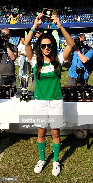 Bianca Gascoigne takes part in the Celebrity Soccer Six charity football tournament at Chelsea Football Club Stamford Bridge on May 24 2009 in London...